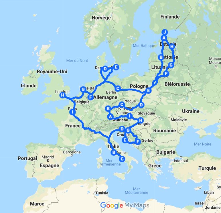 europe blog plan